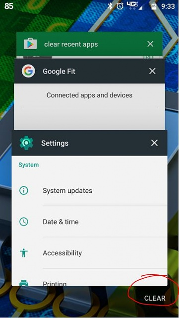 Close Recent Apps Android
